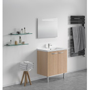 MEUBLE + PLAN VASQUE modèle Toucan Tiroirs 800 x 480 mm miroir mi-hauteur - led intégrée
