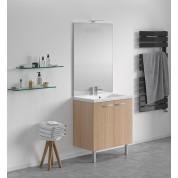 Meuble + vasque Toucan Portes 800 x 480 mm miroir toute hauteur - applique led