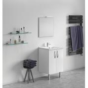 Meuble + vasque Toucan Portes 600 x 480 mm miroir mi-hauteur - applique led