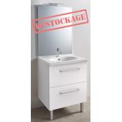 Meuble + vasque Toucan Tiroirs 700 x 480 mm miroir mi-hauteur - led intégrée