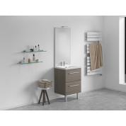 Meuble + vasque Toucan Tiroirs 600 x 480 mm miroir toute hauteur - applique led