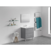 Meuble + vasque Toucan Tiroirs 800 x 480 mm miroir mi-hauteur - led intégrée