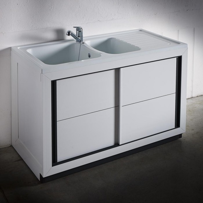Composite normandie 1200 x 600 mm boutique pro carea for Meuble salle de bain porte coulissante