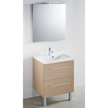 Meuble + vasque Toucan Tiroirs 600 x 480 mm miroir mi ...