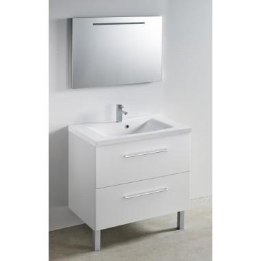 Meuble + vasque Toucan Tiroirs 800 x 480 mm miroir mi ...