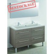 MEUBLE + PLAN VASQUE modèle toucan 1200 x 480 mm miroir mi-hauteur - applique led